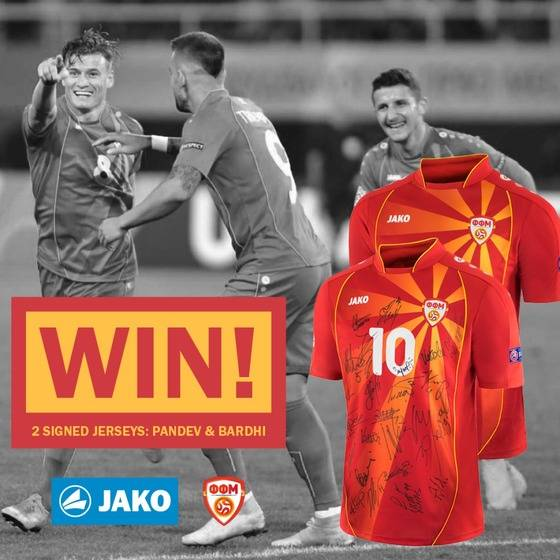 Win two signed Macedonia jerseys!