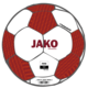 Trainingsbal Striker 2.0 wit/wijnrood/fluo oranje Voorkant