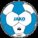 Trainingsbal Striker 2.0 wit/JAKO-blauw Voorkant